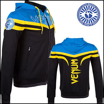 Venum - Толстовка - Sharp Machida - Hoodie - Black/Blue