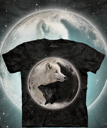 Футболка The Mountain - Yin Yang Wolves