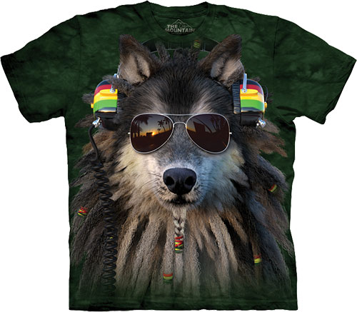 Футболка The Mountain - Rasta Wolf