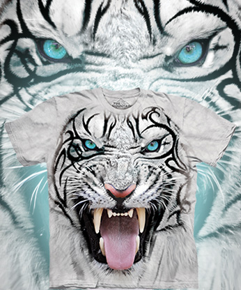 Футболка The Mountain - Big Face Tribal White Tiger