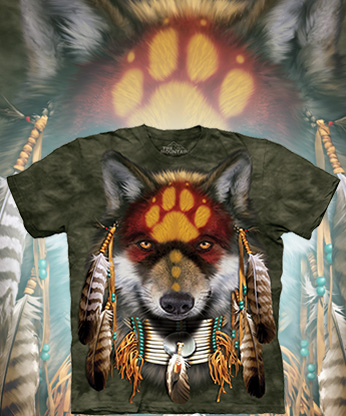 Футболка The Mountain - Native Wolf Spirit