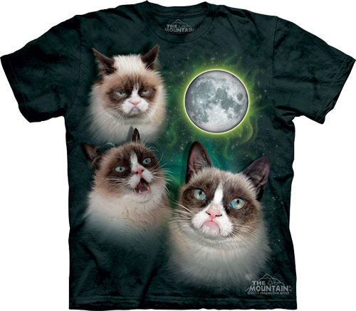 Футболка The Mountain - Three Grumpy Cat Moon