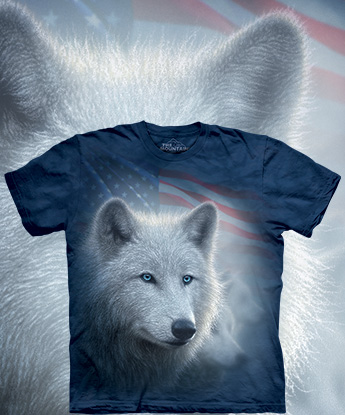 Футболка The Mountain - Patriotic White Wolf