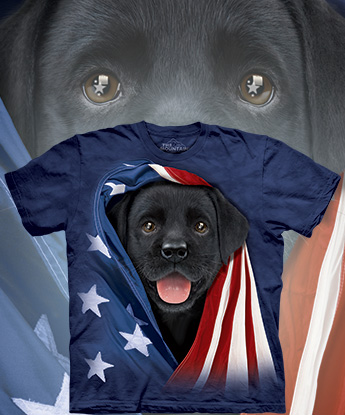 Футболка The Mountain - Patriotic Black Lab Pup