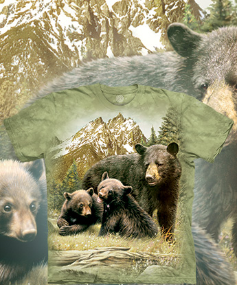 Футболка The Mountain - Black Bear Family
