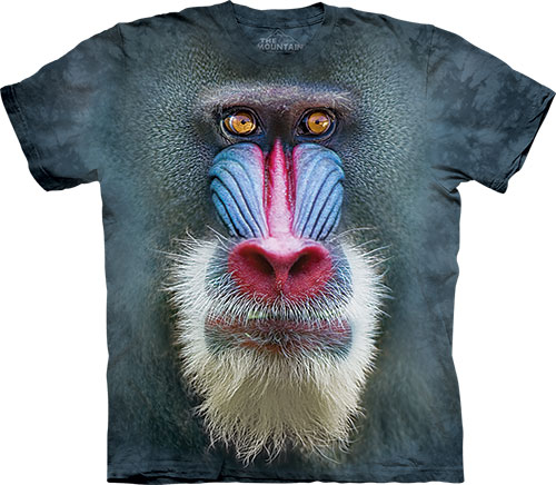 Футболка The Mountain - Big Face Mandrill Baboon- 2014 фото, цена, описание