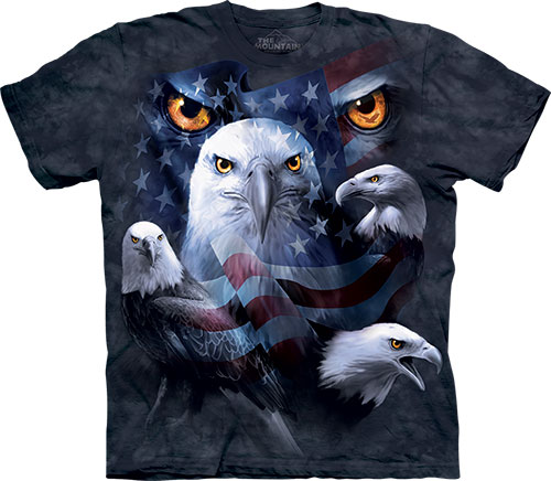Футболка The Mountain - Patriotic Moon Eyes Eagle