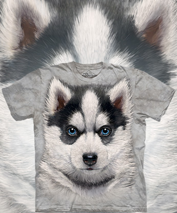 Футболка The Mountain - Siberian Husky Puppy