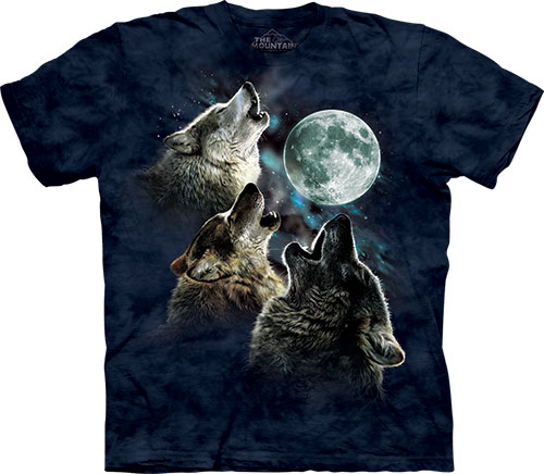 Футболка The Mountain - Three Wolf Moon in Blue