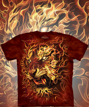 Футболка The Mountain - Fire Tiger