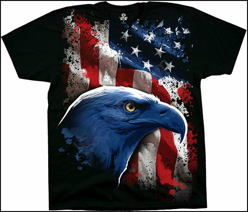 Футболка Liquid Blue - Americana - American Icon - T-shirt фото, цена, описание