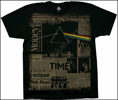 Футболка Liquid Blue - Pink Floyd - T-Shirt - Dark Side Headlines фото, цена, описание