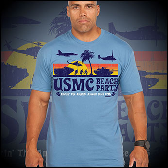 Футболка 7.62 Design - Beach Party - Blue