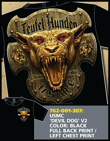Футболка 7.62 Design - DEVIL DOG BLACK фото, цена, описание