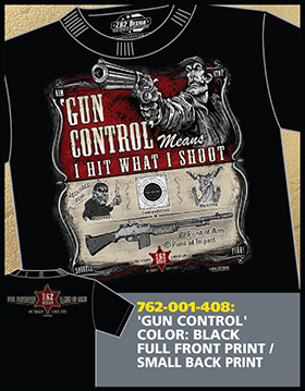 Футболка 7.62 Design - Gun Control - Black