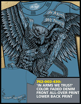 Футболка 7.62 Design - In Arms We Trust - Faded Denim