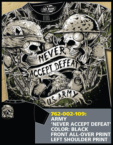 Футболка 7.62 Design - NEVER ACCEPT DEFEAT