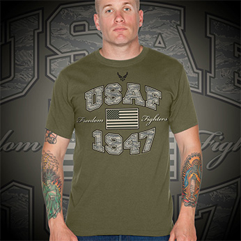 Футболка 7.62 Design - Freedom Fighters - Military Green