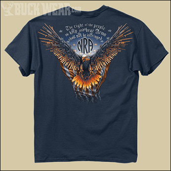 Футболка Buck Wear - NRA-Gun Wing Eagle