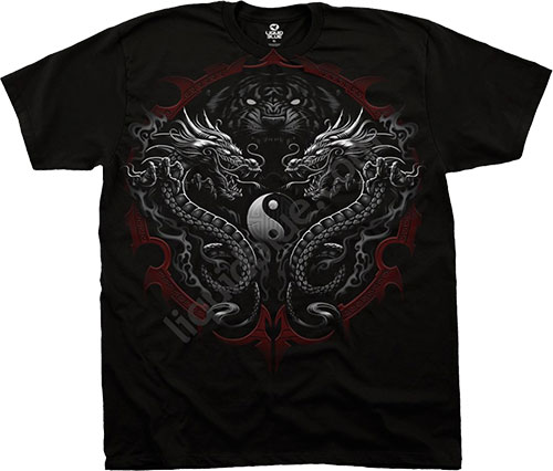 Футболка Liquid Blue - Dark Fantasy Black T - Shirt - Bengal Rising
