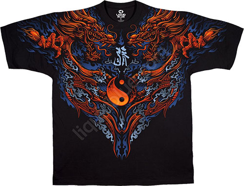 Футболка Liquid Blue - Dark Fantasy Black Athletic T - Shirt - Yin Yang Thing фото, цена, описание