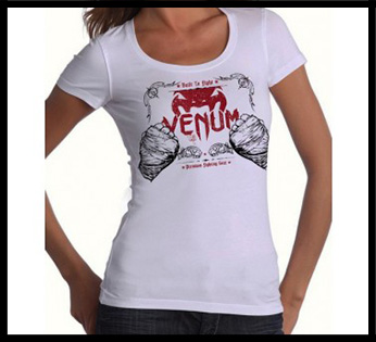 Venum - Футболка женская - Built 2 Strike - Tshirt for Women - Ice