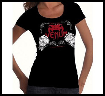 Venum - Футболка женская - Built 2 Strike - Tshirt for Women - Black