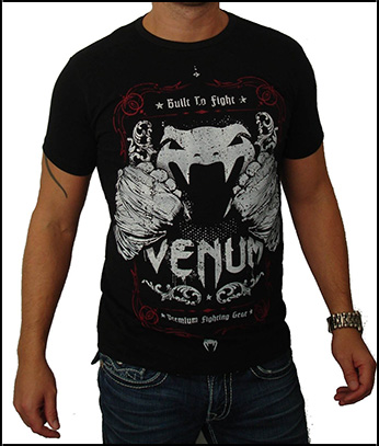 Venum - Футболка - Built 2 Strike - Tshirt - Black - Creative Line