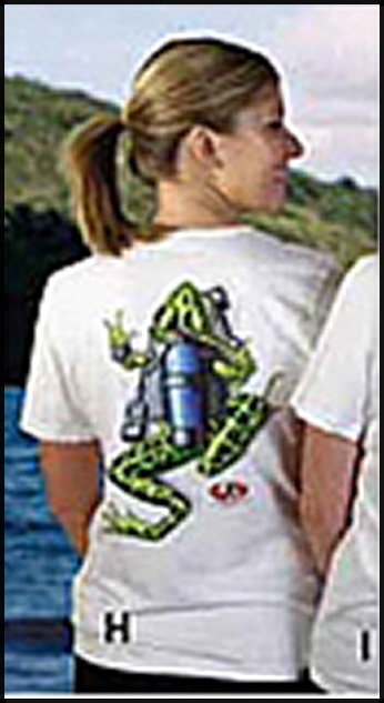 Amphibious - Футболка женская - Cuba Frog backprint with Pewter A-O Logo Front Print
