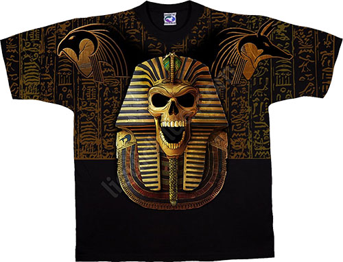 Футболка Liquid Blue - Skulls Black T - Shirt - Egyptian