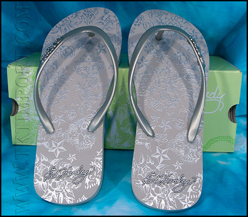 Шлепанцы женские Ed Hardy - Capistrano Sandals - Silver