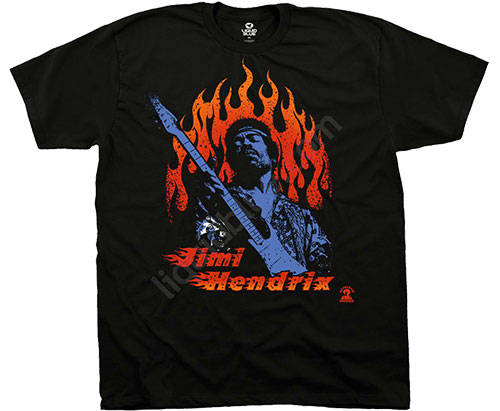 Футболка Liquid Blue - Jimi Hendrix - T-Shirt - Hendrix Fire фото, цена, описание