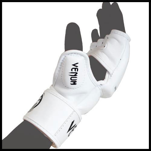 Venum - Экипировка - Impact MMA Gloves - Skintex Leather - White фото, цена, описание