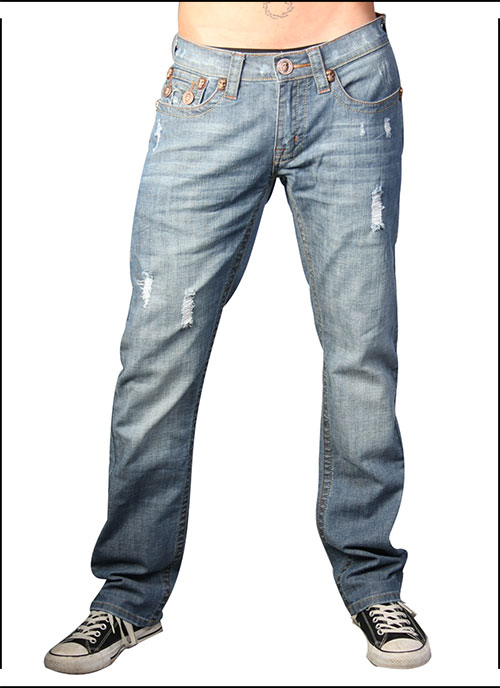 Laguna Beach - Джинсы Мужские - Mens Phantom Pocket 3 Medium Blue Slim Fit Huntington Beach Denim фото, цена, описание