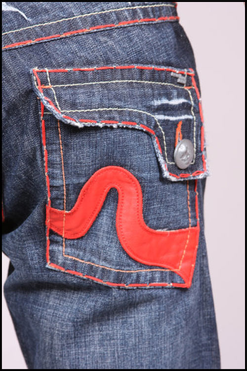 Laguna Beach - Джинсы Мужские - Mens Sunset Beach Red Stitch Denim фото, цена, описание