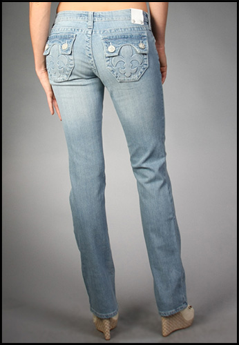 Laguna Beach - Джинсы Женские - Womens Phantom Pocket (5) Powder Blue Slim Fit Hermosa Beach Denim