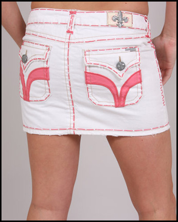 Laguna Beach - Юбка - Seal Beach Rose Stitch White Mini Skirt