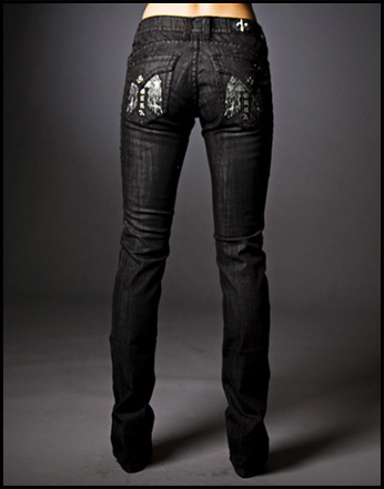 Laguna Beach - Джинсы Женские - Womens Long Beach BBB Straight Leg Denim Titanium Collection