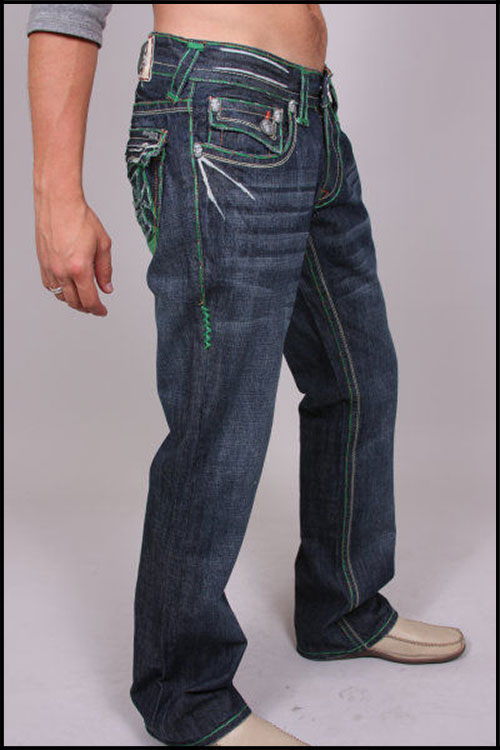 Laguna Beach - Джинсы Мужские - Mens Balboa Beach Green Stitch Denim фото, цена, описание