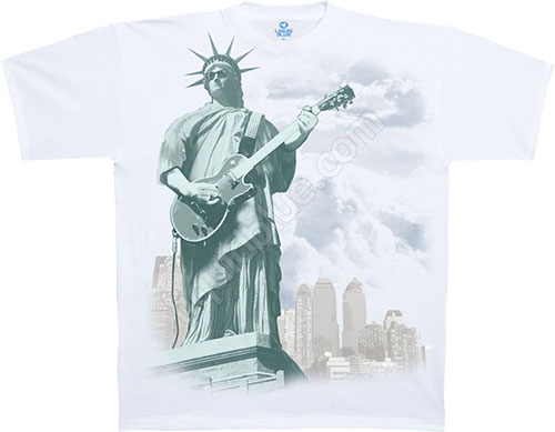 Футболка Liquid Blue - Americana - Athletic T-Shirt - Liberty Rock