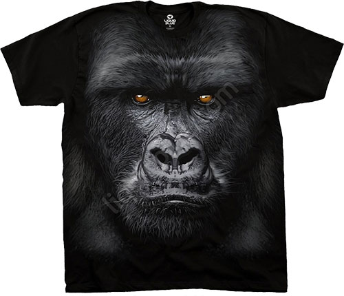 Футболка Liquid Blue - Exotic Wildlife Black Athletic T - Shirt - Majestic Gorilla фото, цена, описание