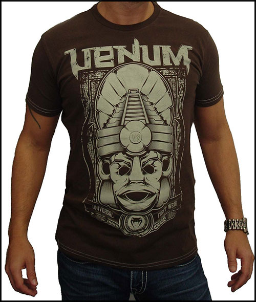 Venum - Футболка - Maya Mask - Tshirt - Brown - Creative Line фото, цена, описание