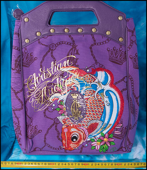 Christian Audigier - Сумки Женские - Koi Foldover - Purple