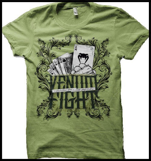 Venum - Футболка - Poker - Tshirt - Green фото, цена, описание