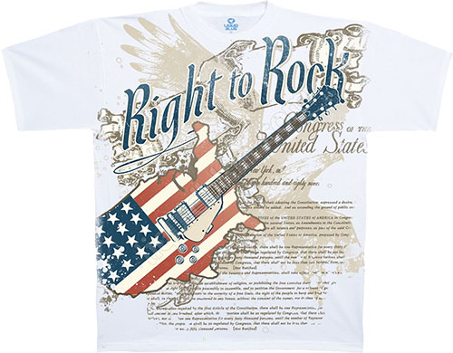 Футболка Liquid Blue - Americana - Athletic T-Shirt - Right To Rock фото, цена, описание