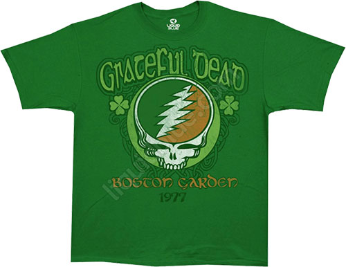 Футболка Liquid Blue - Shamrock 77 - Grateful Dead Green Athletic T - Shirt фото, цена, описание