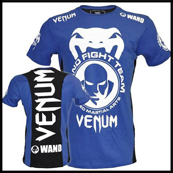 Venum - Футболка - Wand Team - Shockwave Tee - Black Blue
