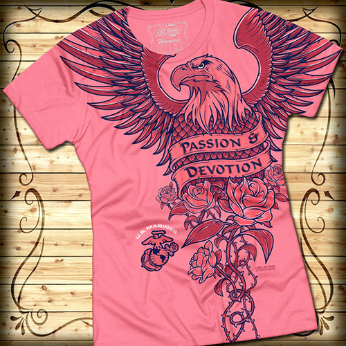 Футболка 7.62 Design - USMC Passion Devotion - Pink фото, цена, описание