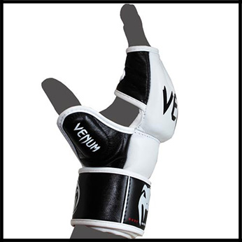 Venum - Экипировка - Undisputed MMA Gloves - Nappa Leather - White