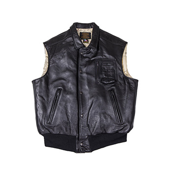 The Stearman Leather Vest - Z2129V - Black
